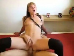 Sexy babe gives BJ and rides cock