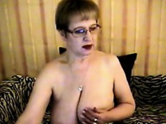 Busty Granny Being Kinky In Fishnets