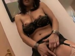 Sexy Mother In Lingerie Giving A Blowjob