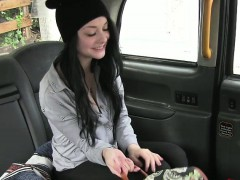 Alessa gets her tiny pussy pounded hard in a cab