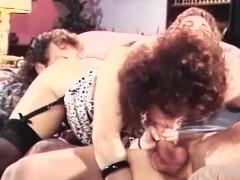 Vintage vid with FFM threesome