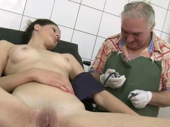 Shy Teen Undresses For Doc