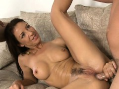 Fine milf is getting her taut pussy drilled