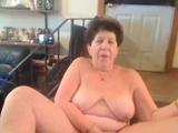 Horny granny masturbates with advantage of dido