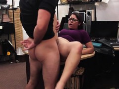 Brunette thieves gets caught and fucked by Shawn