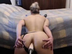 Sexy Babe Spreads Ass Fucks Dildo on Webcam
