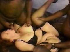 Adult redhead milf multiple-group interracial gangbang
