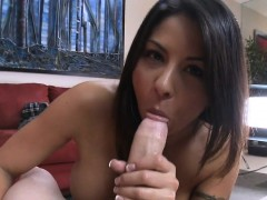 Milf is performing rodeo on weenie before sex in doggystyle