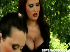 Guy fucked by BBW Dominas