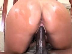 Black cock fucking Kendall Fox hard