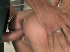 Aletta Ocean gets fucked in a gangbang