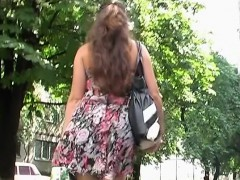 Russian Babe Upskirt On Trainstation
