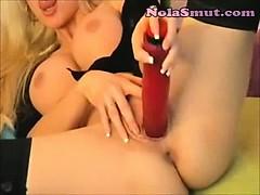 Blonde Slut Wife In Nylon Stockings
