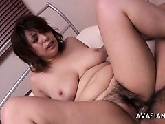 Wet Asian Hairy Pussy And Deep Ass Drill