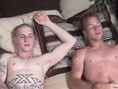 Raunchy Homos Bryson And Austin Jack Off Their Cocks