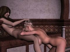 Lesbian Couple Enjoy Sensual Sexy Times
