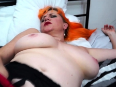 European Mom Playing With Her Hairy Pussy