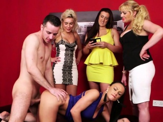 Doggystyled cfnm milf fucked by lucky guy