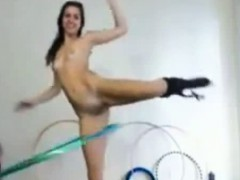 Webcam Girl Has Serious Hula Hoop Skills
