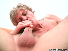 Some horny dude destroying old mature slut
