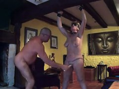 Tied Up Woman Orgasms