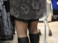 Black Skirt Out In Public