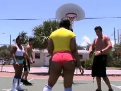 Hot ass girls get fucked after basketball game