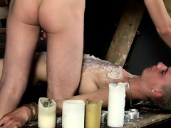 Naked men Splashed With Wax And Cum