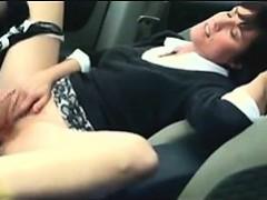 Mature Mother Masturbating In The Car