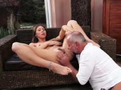 Delicious Teen Kitty Drilled by Old Horny Guy