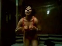 Arabic Teen Girl Dancing In A Bikini