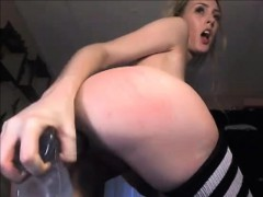 Teen with nice ass masturbates with her sextoy