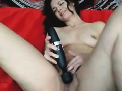 Pretty Webcam Girl With A Toy