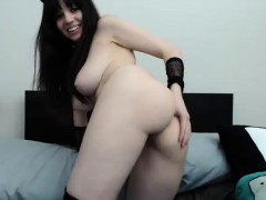 Teen in Stockings Pussy Play on Webcam