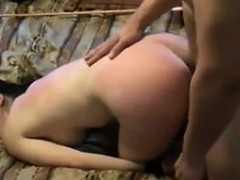 my slave Peggy eats cum after severe caning