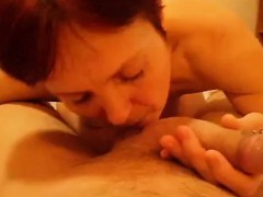 Horny short-haired woman enjoys playing with a turgid jackh