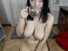 Cute Asian MILF Big Tits on Webcam
