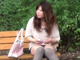 Asian slut piss public