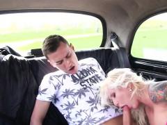 Female fake taxi driver pierced cunt banged