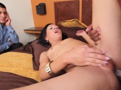 Natural tgirl cumdrops while assfucked