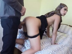 Arab woman gets her hairy pussy fucked