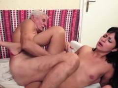 Brunette Alexis Loves Grandpa Big Cock