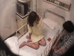 Lovely Asian patient gets naked in bed so they can eat each