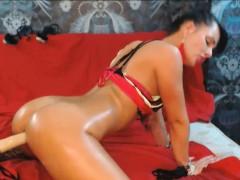 Ass Teasing on Sex Machine so HOT