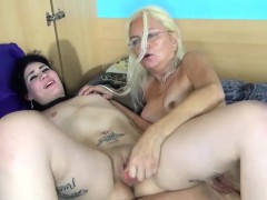 Two lesbians are playing with each other