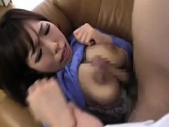 Asian babe with huge knockers gets licked and her cunt bang