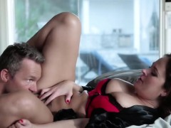Big tits brunette milf riding fucking bedroom