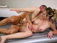 Stunning big titted blondie masseuse banged by her client