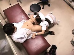 Sultry Japanese nurse unleashes her sexual desires with a h