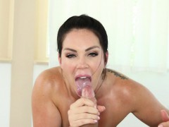 Alison Tyler gives a sexy blow job and titty fucking